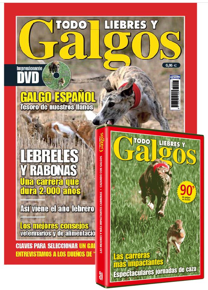Revista + DVD Todo galgos y liebres